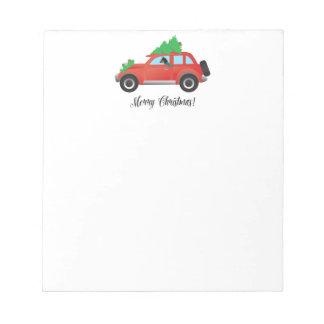 Miniature Pinscher Christmas Car Notepad