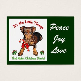 Miniature Pinscher Christmas Gifts Business Card