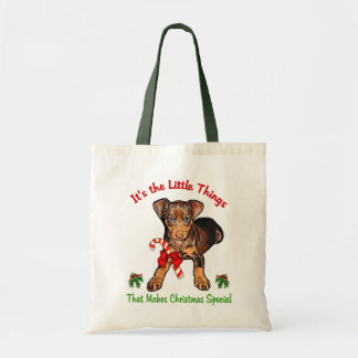 Miniature Pinscher Christmas Gifts Tote Bag
