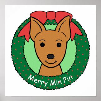 Miniature Pinscher Christmas Print