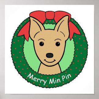 Miniature Pinscher Christmas Posters