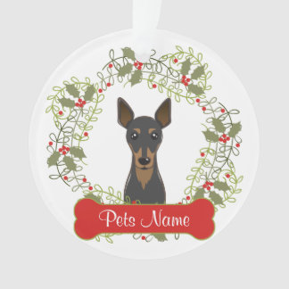 Miniature Pinscher Customizable Ornament
