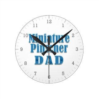Miniature Pinscher Dad Clock