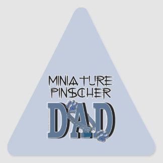 Miniature Pinscher DAD Triangle Sticker