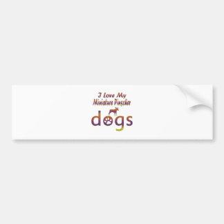 Miniature Pinscher designs Bumper Sticker