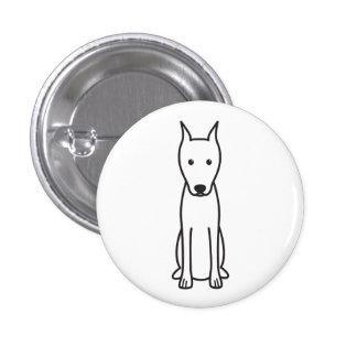 Miniature Pinscher Dog Cartoon Button