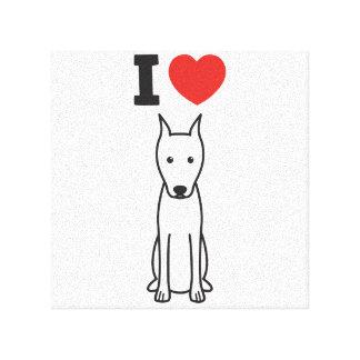 Miniature Pinscher Dog Cartoon Canvas Prints