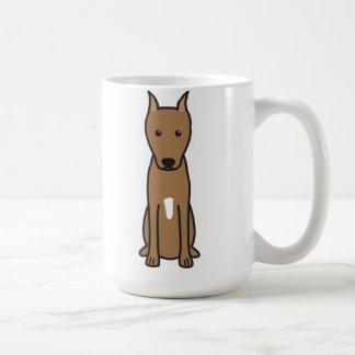 Miniature Pinscher Dog Cartoon Coffee Mug