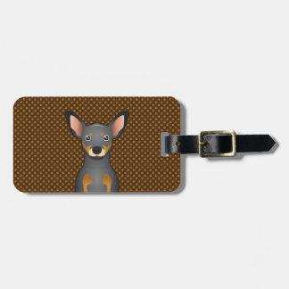Miniature Pinscher Dog Cartoon Paws Bag Tags