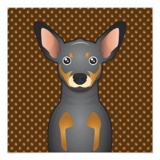 Miniature Pinscher Dog Cartoon Paws Art Photo