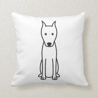 Miniature Pinscher Dog Cartoon Throw Pillow