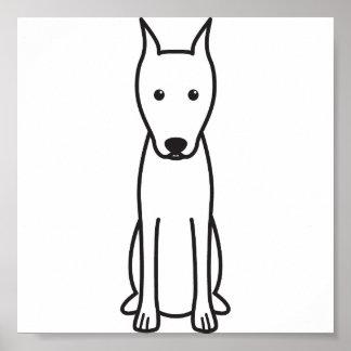 Miniature Pinscher Dog Cartoon Poster