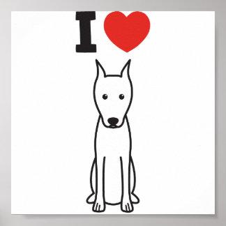 Miniature Pinscher Dog Cartoon Posters