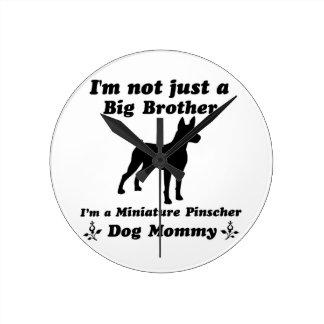 miniature pinscher Dog Mommy Wallclocks
