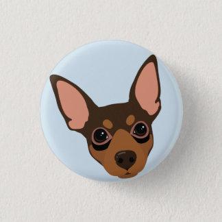 Miniature Pinscher Dog Portrait Pinback Button