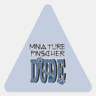 Miniature Pinscher DUDE Triangle Sticker