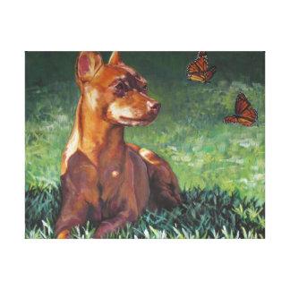 Miniature Pinscher fine art dog painting Canvas Print