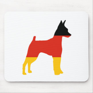 miniature pinscher germany-flag silhouette mouse pad