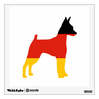 miniature pinscher germany-flag silo.png wall decal