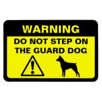 Miniature Pinscher Guard Dog Warning Magnet