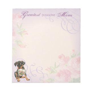 Miniature Pinscher Heart Mom Note Pad