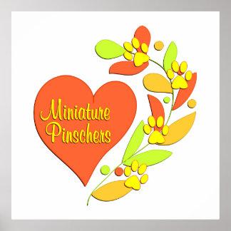 Miniature Pinscher Heart Print
