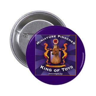 Miniature Pinscher, King of Toys Button