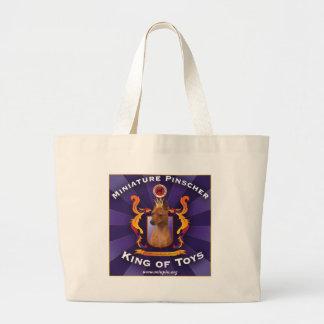 Miniature Pinscher, King of Toys Jumbo Tote Bag