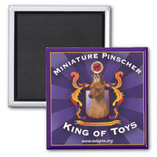 Miniature Pinscher, King of Toys 2 Inch Square Magnet