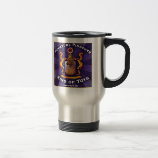 Miniature Pinscher, King of Toys 15 Oz Stainless Steel Travel Mug