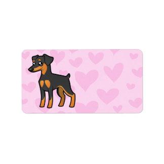 Miniature Pinscher / Manchester Terrier Love Address Label