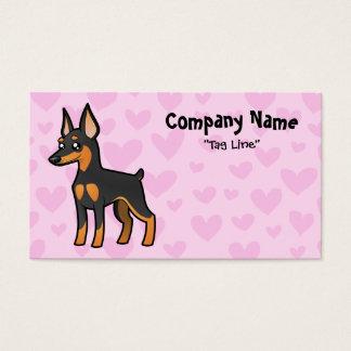 Miniature Pinscher / Manchester Terrier Love Business Card