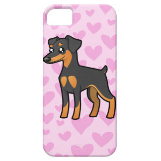 Miniature Pinscher / Manchester Terrier Love iPhone SE/5/5s Case