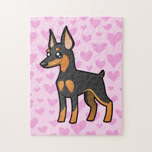Miniature Pinscher / Manchester Terrier Love Jigsaw Puzzles