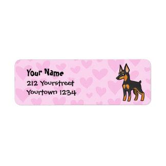 Miniature Pinscher / Manchester Terrier Love Return Address Label