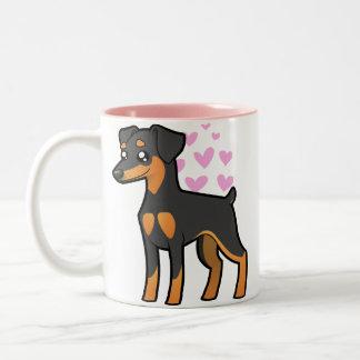 Miniature Pinscher / Manchester Terrier Love Two-Tone Coffee Mug
