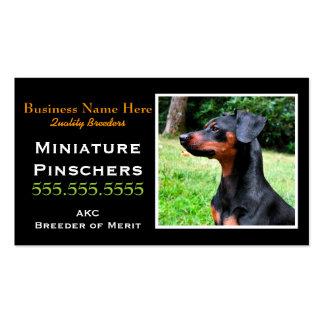 Miniature Pinscher.Min Pin.Breeder.Litter date Business Cards