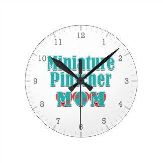 Miniature Pinscher Mom Hearts Wall Clock