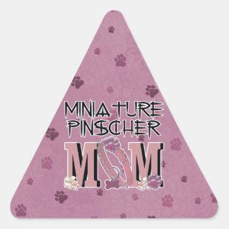 Miniature Pinscher MOM Triangle Sticker