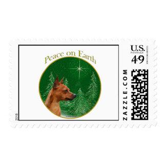 Miniature Pinscher Peace Stamps
