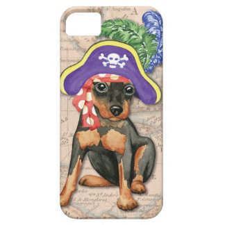 Miniature Pinscher Pirate iPhone SE/5/5s Case