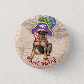 Miniature Pinscher Pirate Pinback Button
