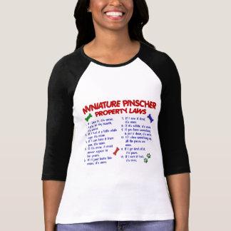 Miniature Pinscher Property Laws 2 T-shirt