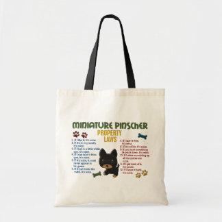 Miniature Pinscher Property Laws 4 Budget Tote Bag