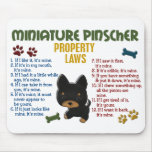 Miniature Pinscher Property Laws 4 Mouse Pads