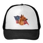 Miniature Pinscher (red) Flag Hat