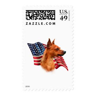 Miniature Pinscher (red) Flag Stamps