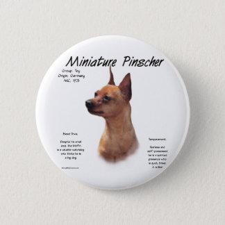 Miniature Pinscher (red) History Design Button
