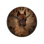 Miniature Pinscher Round Clock