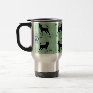 Miniature Pinscher Shadow 15 Oz Stainless Steel Travel Mug